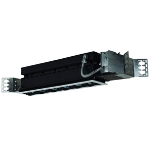 Black Six-Light Low Voltage Linear New Construction Fixture with White Trim