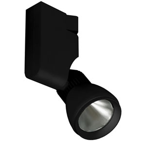 H Type Black One-Light LED Track Head