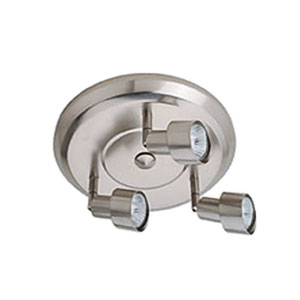 Satin Chrome Three-Light Ceiling Mount