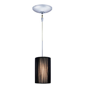 Zen Chrome One-Light Low Voltage Mini Pendant with Black Shade