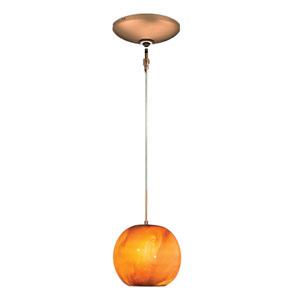 Envisage VI Bronze One-Light Low Voltage Mini Pendant with Caramel Shade