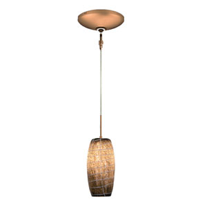 Envisage VI Bronze One-Light Low Voltage Mini Pendant with Gray Shade