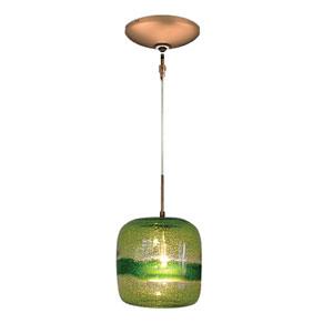 Envisage VI Bronze One-Light Low Voltage Mini Pendant with Green Glass