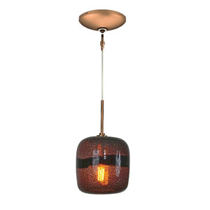 Envisage VI Bronze One-Light Low Voltage Mini Pendant with Purple Shade