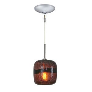 Envisage VI Satin Nickel One-Light Low Voltage Mini Pendant with Purple Shade