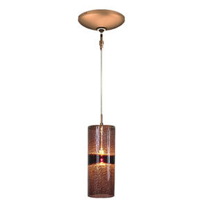 Envisage VI Bronze One-Light Low Voltage Cylinder Mini Pendant with Purple Shade