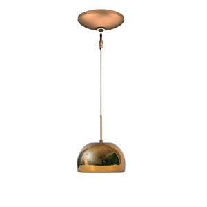 Envisage VI Bronze One-Light Low Voltage Dome Pendant with Chocolate Shade