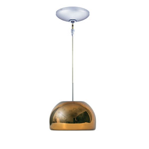 Envisage VI Chrome 6-Inch One-Light Low Voltage Dome Mini Pendant with Chocolate Shade
