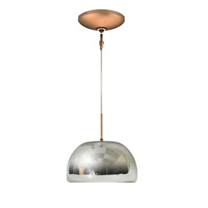 Envisage VI Chrome 6-Inch One-Light Low Voltage Dome Mini Pendant with Bronze Canopy