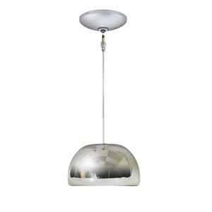 Envisage VI Chrome 6-Inch One-Light Low Voltage Mini Pendant with Satin Nickel Canopy