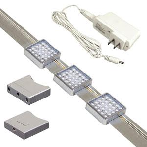 Jesco Silver Orionis 3Ft Square LED Track Kit