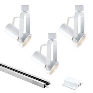 White 4.5-Inch Three-Light Track Lighting Kit
