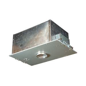Silver 17.5-Inch One-Light Low Voltage Airtight IC Housing for New Construction