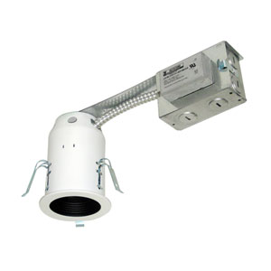 Silver 11.5-Inch One-Light Low Voltage Non-IC Housing for Remodel