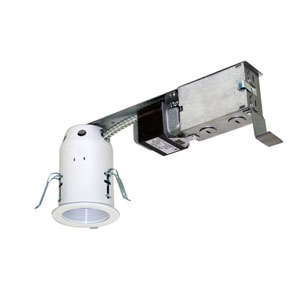 Silver 13.5-Inch One-Light Low Voltage Non-IC Housing for Remodel