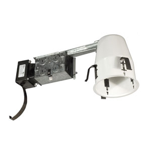 Silver 4-Inch One-Light Low Voltage Non IC Airtight Housing For Remodel