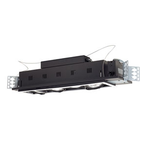 Black Four-Light New Construction Double Gimbal Linear Recessed with White Trim