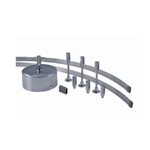 Satin Nickel Three-Light 8 ft. Monorail Kit