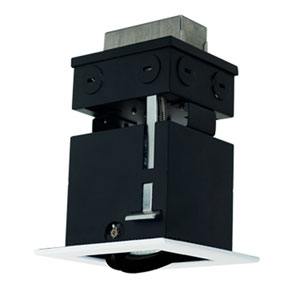 Black One-Light Low Voltage Linear Remodel Fixture
