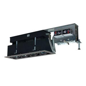 Black Four-Light Low Voltage Linear Remodel Fixture