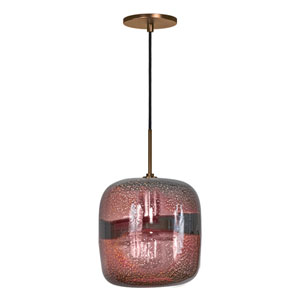Envisage VI Bronze One-Light Mini Pendant with Purple Shade