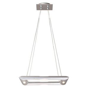 Polished and Burnished Aluminum Four-Light Pendant