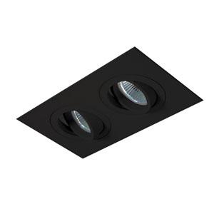 Black Two-Light Gimbal