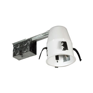 Silver 4-Inch One-Light Line Voltage Non IC Airtight Housing For Remodel