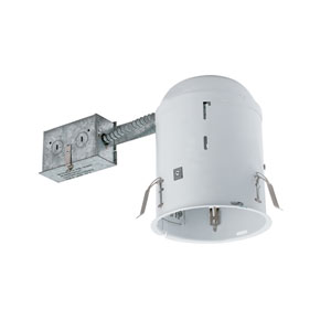 Silver 5-Inch One-Light Line Voltage Non-IC Housing for Remodel