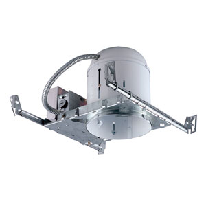 Silver 6-Inch One-Light Non-IC Universal Housing for New Construction