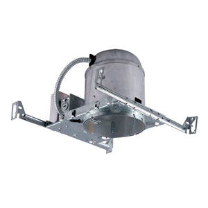 Silver 6-Inch One-Light IC Airtight IC Housing for New Construction