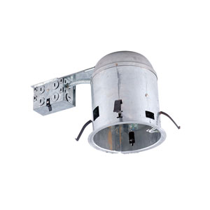 Silver 6-Inch One-Light IC Airtight Housing for Remodel