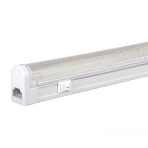 White 29-Inch 22W T4 Fluorescent Undercabinet Fixture with Rocker Switch, 3000K