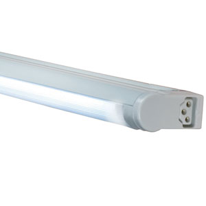 Silver 23-Inch Adjustable 14W T5 Fluorescent Undercabinet Fixture, 4100K