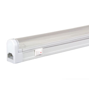 White 19.5-Inch Adjustable 16W T4 Fluorescent Undercabinet with Rocker Switch, 3000K