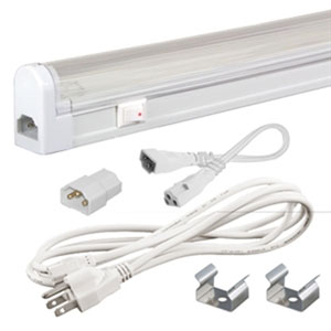 Jesco White Sleek Plus Fluorescent Kit 28W with Switch 3000K