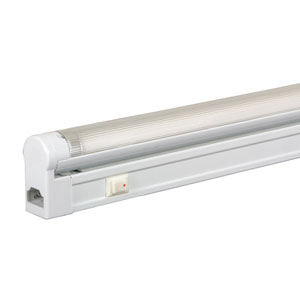 White 46.5-Inch 28W T5 Fluorescent Undercabinet Fixture with Rocker Switch, 4100K
