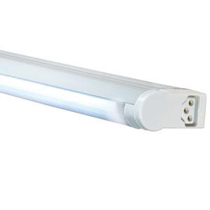 White 23-Inch Adjustable 14W T5 Fluorescent Undercabinet Fixture, 3000K