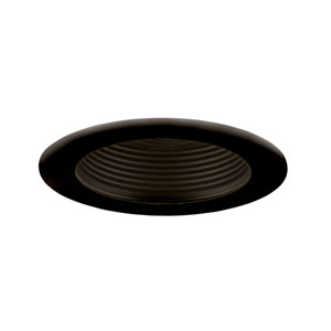 Black 4-Inch Step Baffle Trim