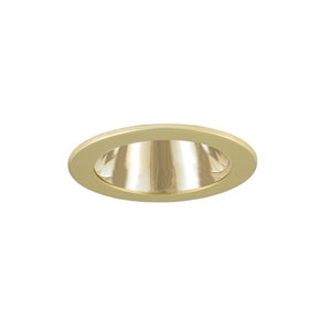 Polished Brass 3-Inch Low Voltage Trim with Adjustable Open Reflector