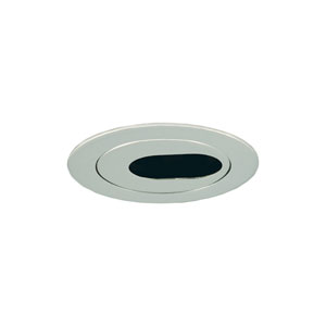 Chrome 3-Inch Low Voltage Trim with Adjustable Oval Slot Aperture
