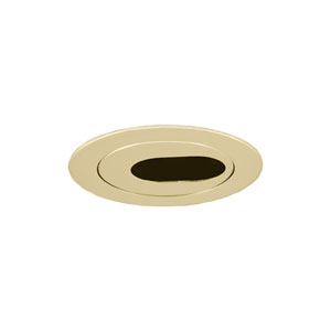 Polished Brass 3-Inch Low Voltage Trim with Adjustable Oval Slot Aperture