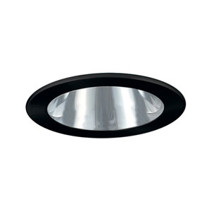 Chrome and Black 4-Inch Low Voltage Trim with Adjustable Open Reflector