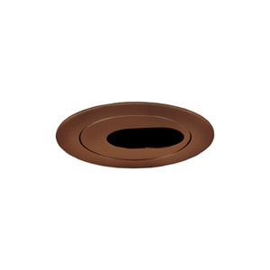 Antique Bronze 4-Inch Low Voltage Trim with Adjustable Oval Slot Aperture