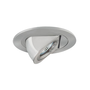 Satin Chrome One-Light Low Voltage Dropped Dish Shower Trim