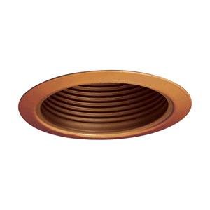 Antique Bronze 5-Inch Line Voltage Metal Step Baffle Trim