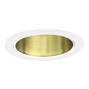 Polished Brass 5-Inch Line Voltage Cone Trim
