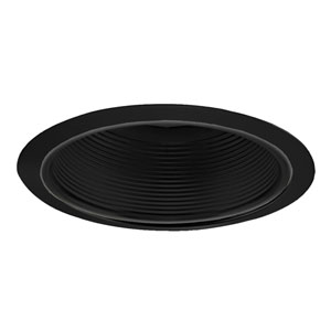 Black 6-Inch Line Voltage Step Baffle Trim