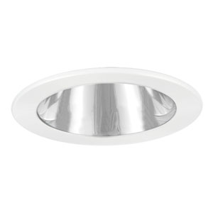 Chrome and White 6-Inch Specular Reflector Trim