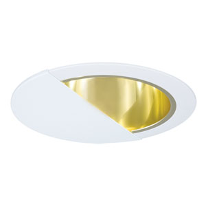 Polished Brass 6-Inch Line Voltage Wall Wash with Reflector Trim